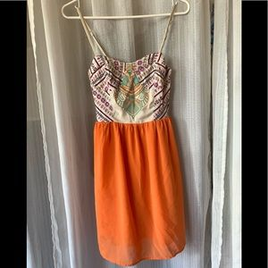 Bright orange sundress